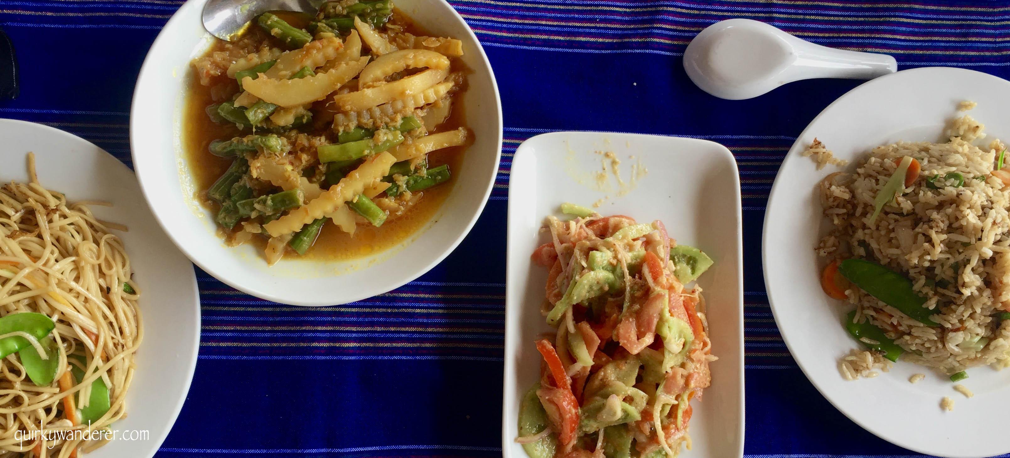 Myanmar veg meal