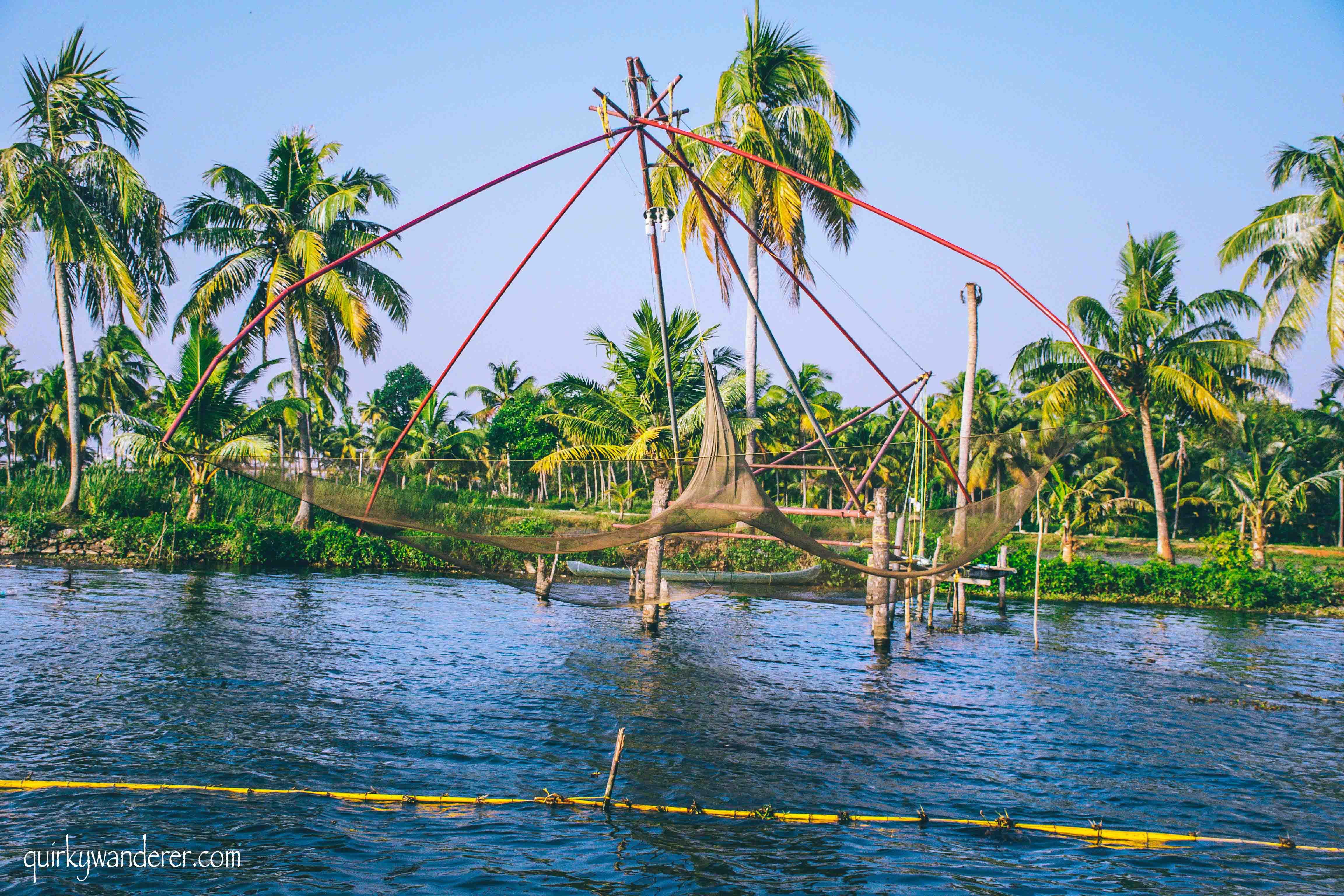 Fishing net in Kumarakom