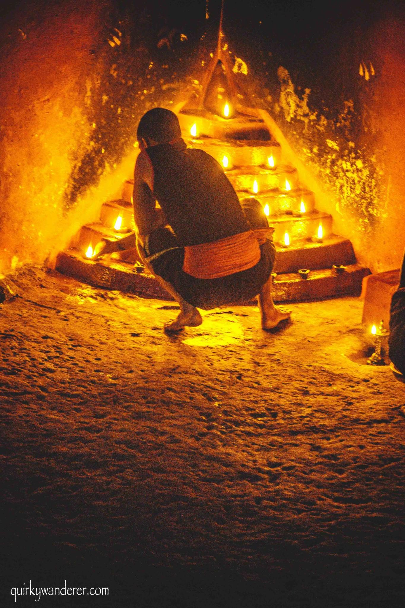performer of Kalaripayattu munnar