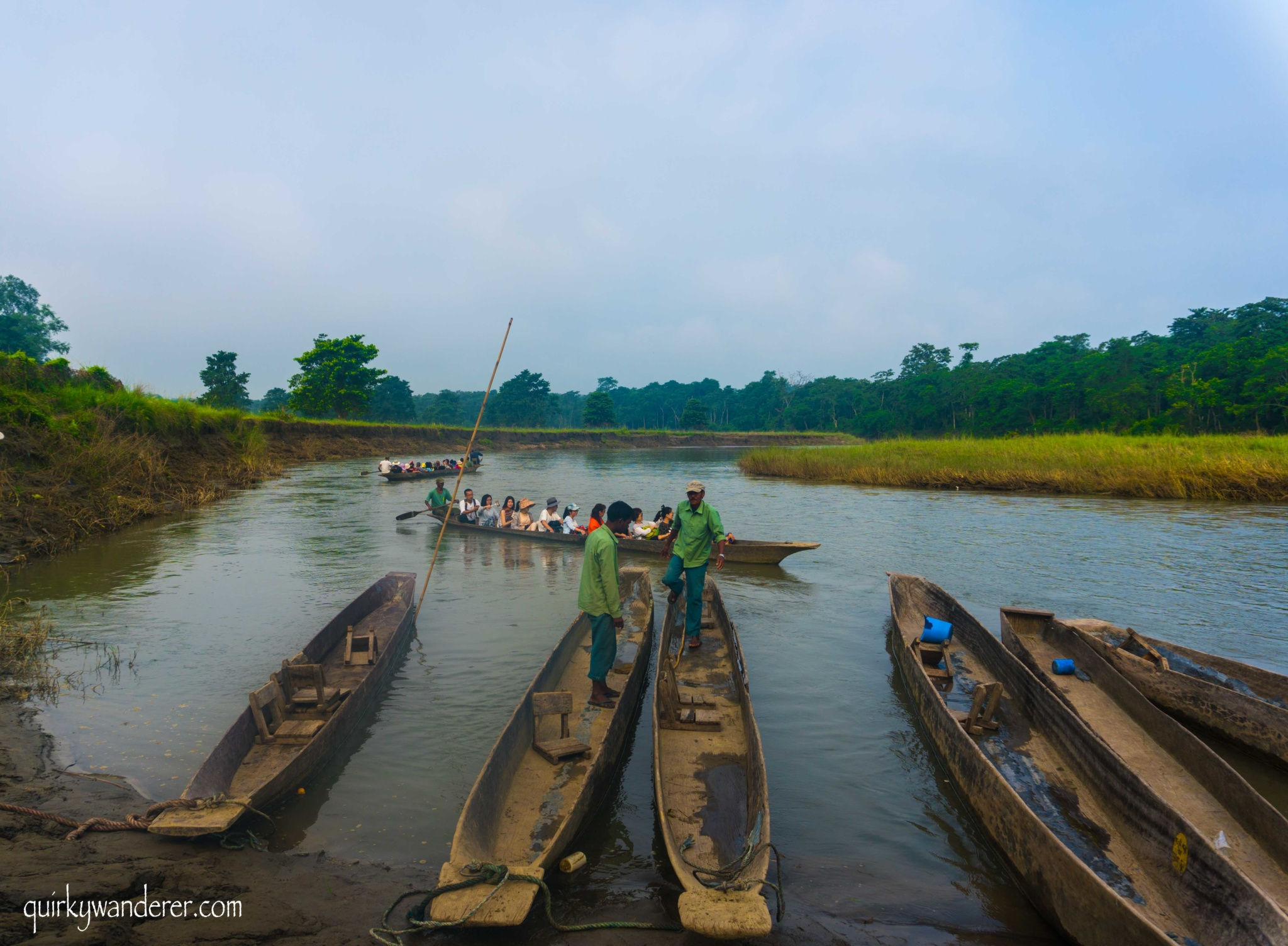 Canoeing in Chitwan