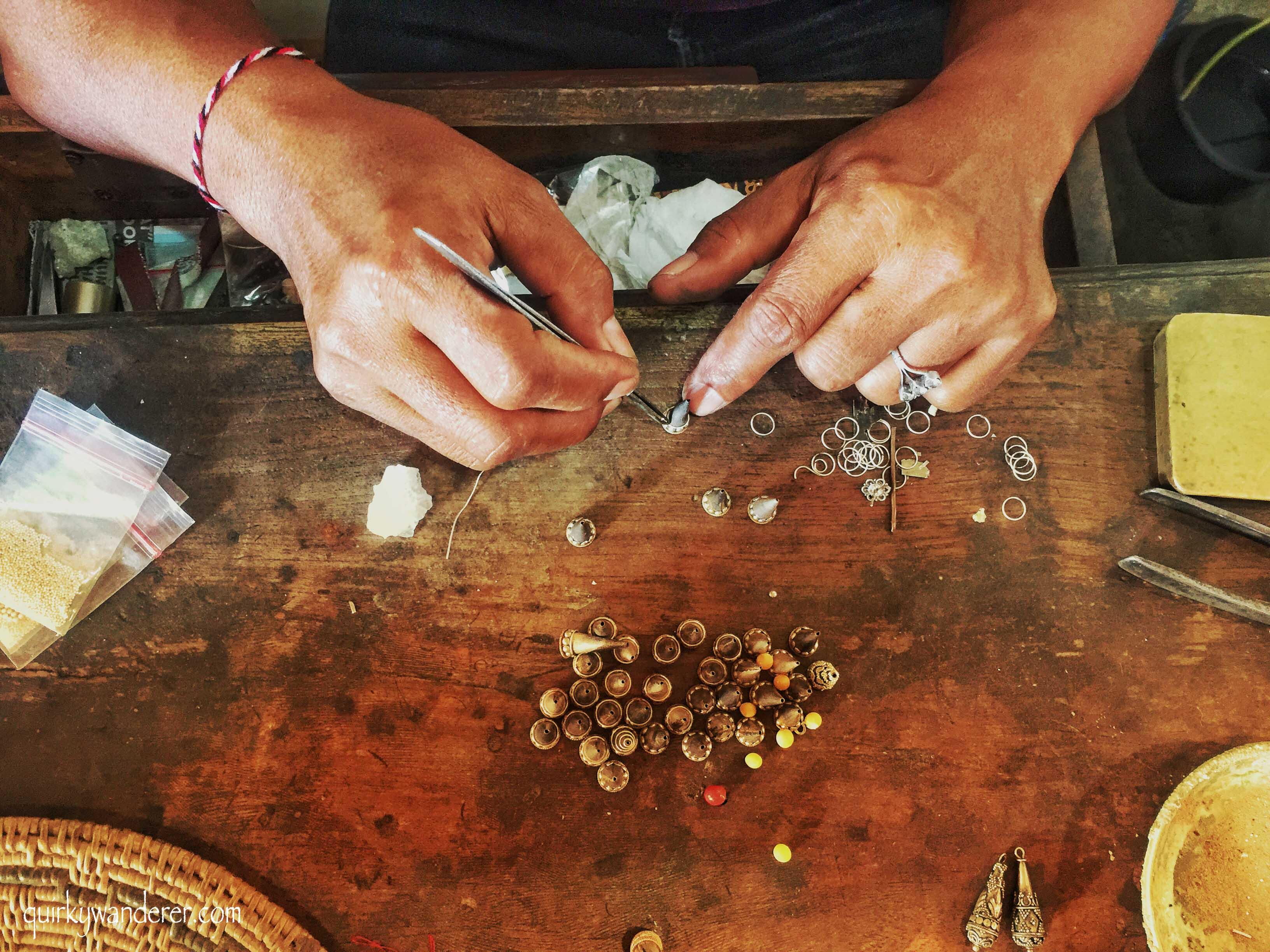 silver jewellery in Celuk , Bali
