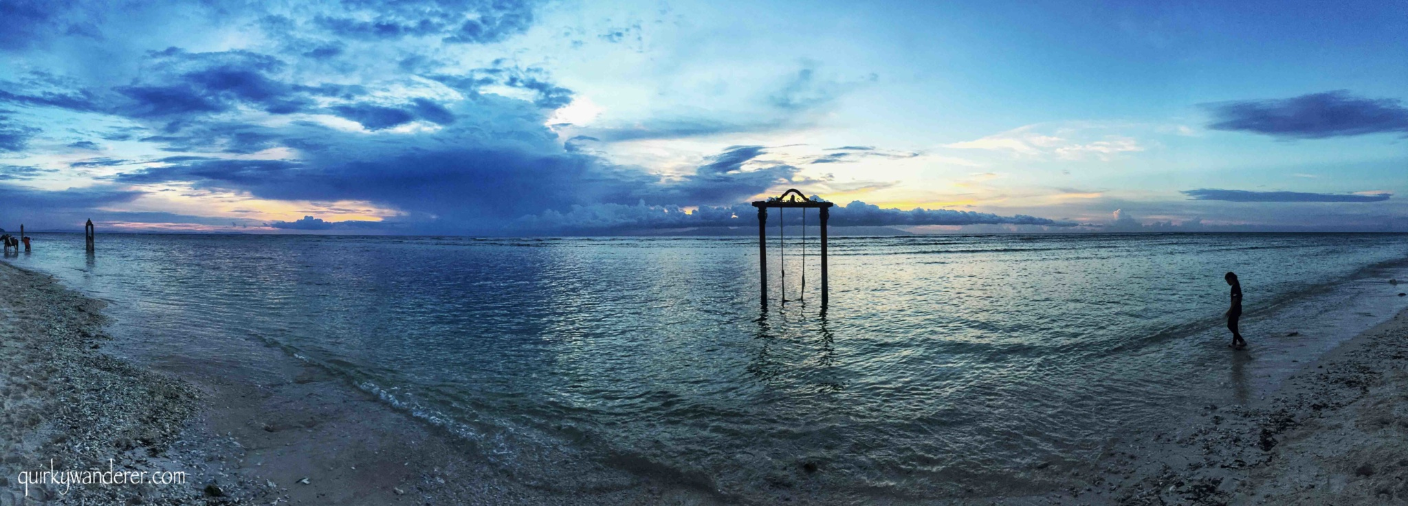 Ombak sunset , gili Trawangan
