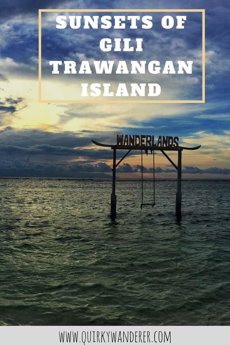 SUNSETS OF GILI TRAWANGAN ISLAND